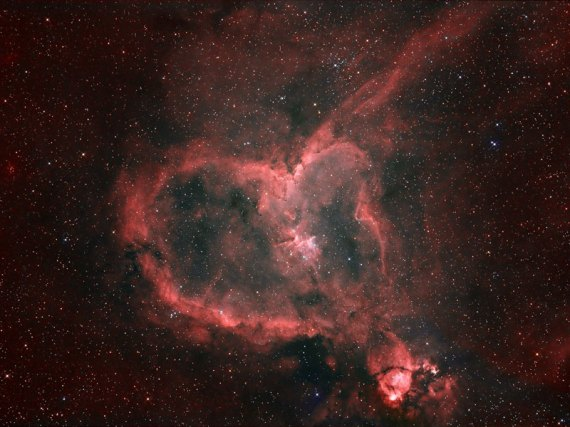 The Heart Nebula, near Cassiopeia